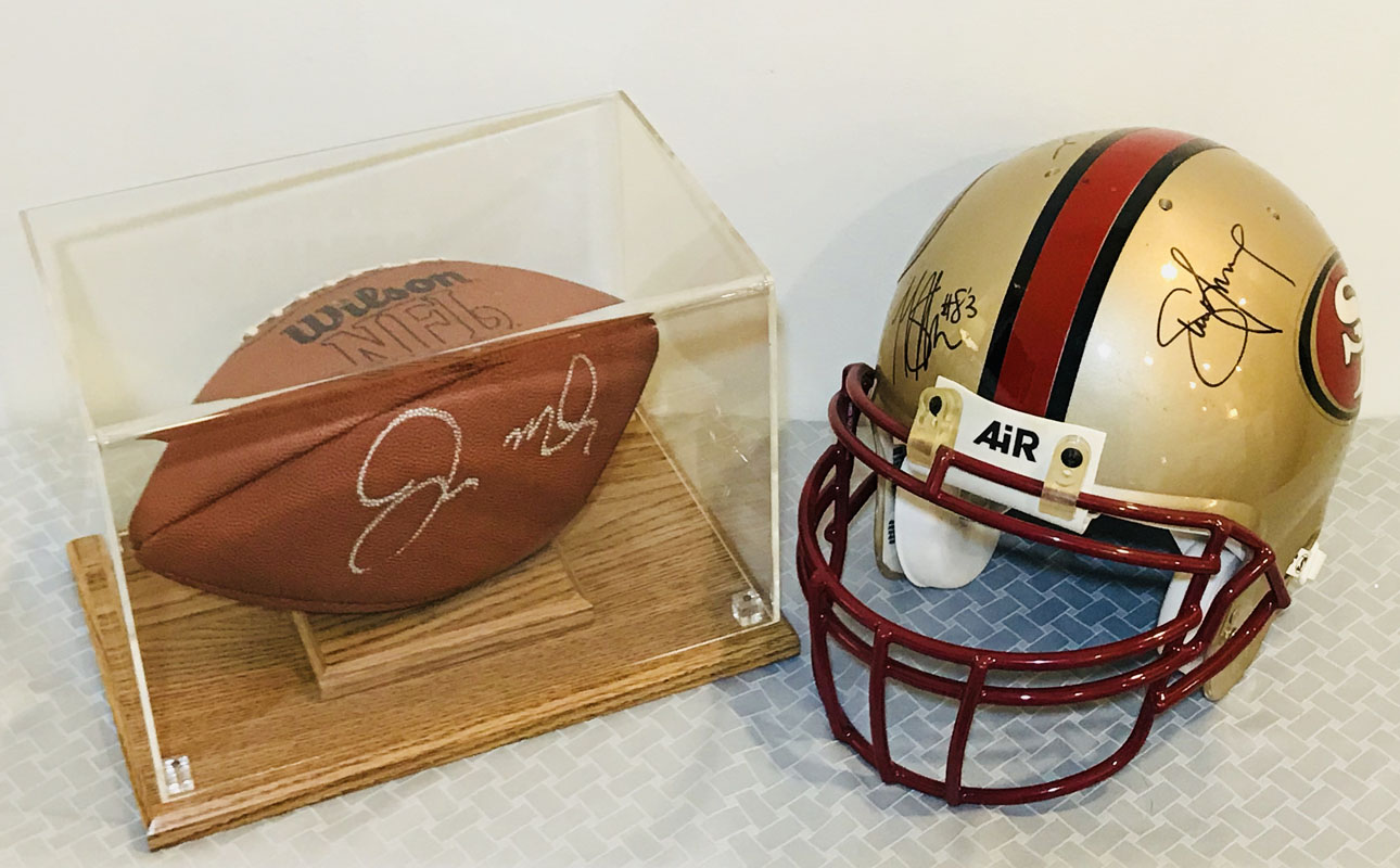 Helmet & football (signed) 01 Image